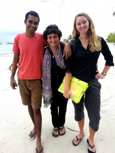 Sydney, Lira and I on Eydhafushi